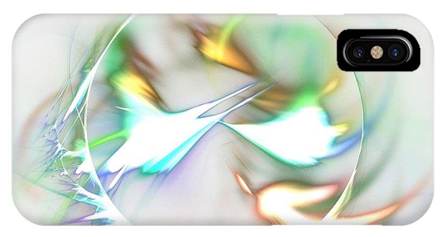 Apophysis IPhone X Case featuring the digital art Quasars by Kim Sy Ok