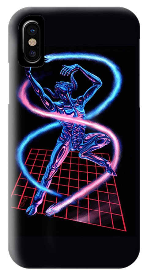 Dance IPhone X Case featuring the digital art Quicksilver Nick by Tony Hough