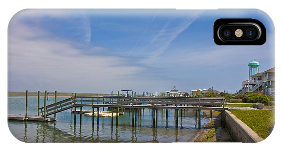 Topsail IPhone X Case featuring the photograph Quiet At The Sound by Betsy Knapp