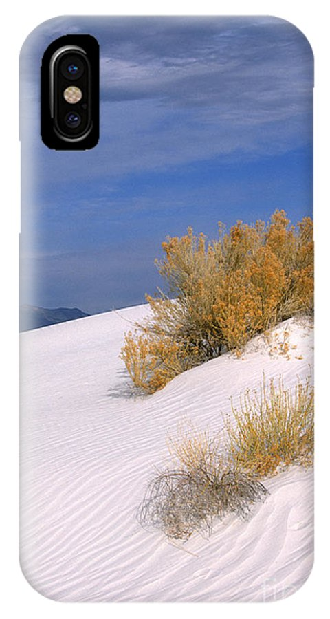 Sandra Bronstein IPhone X Case featuring the photograph Windswept - White Sands National Monument by Sandra Bronstein