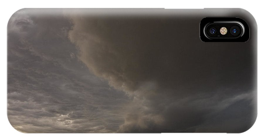 Storm IPhone X Case featuring the photograph Racing The Storm by Tim Mulina