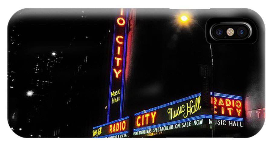 IPhone X Case featuring the photograph Radio City Music Hall - Greeting Card by Mark Valentine