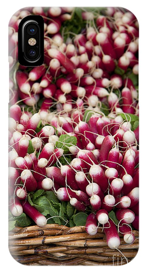 Agriculture IPhone X Case featuring the photograph Radishes In A Basket by Jane Rix