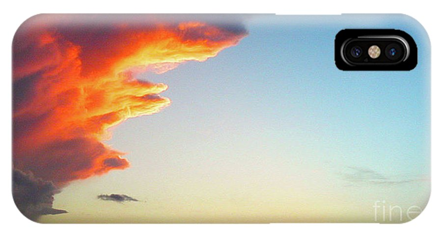 Sky IPhone X Case featuring the photograph Raging Sky by Michael Waters