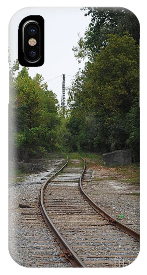 Rail IPhone X Case featuring the photograph Rail To The Forest by Jost Houk