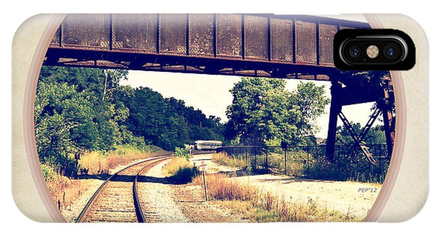 Photo IPhone X Case featuring the photograph Railroad Tracks And Trestle by Phil Perkins