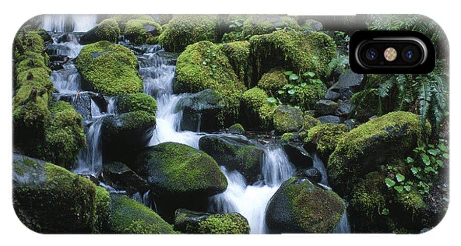 Rainforest IPhone X Case featuring the photograph Rain Forest Stream by Sandra Bronstein