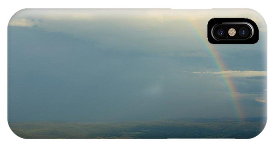 Rainbow IPhone X Case featuring the photograph Rainbow From Mount Greylock Summit by John Burk