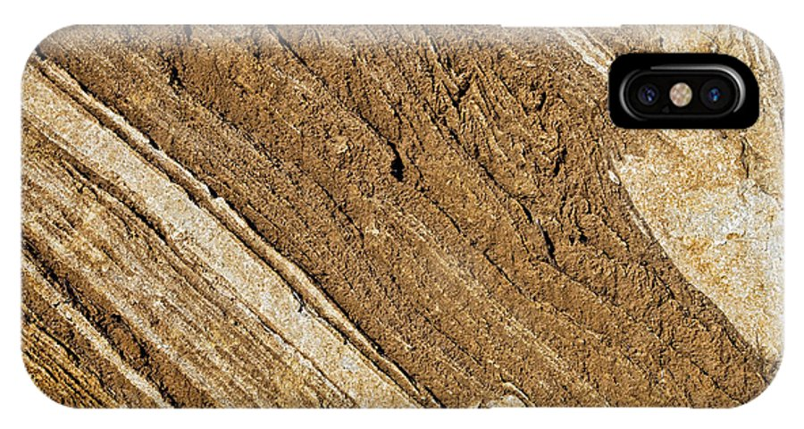 Horizontal IPhone X Case featuring the photograph Rajasthan Sandstone Marble Streaks by Kantilal Patel