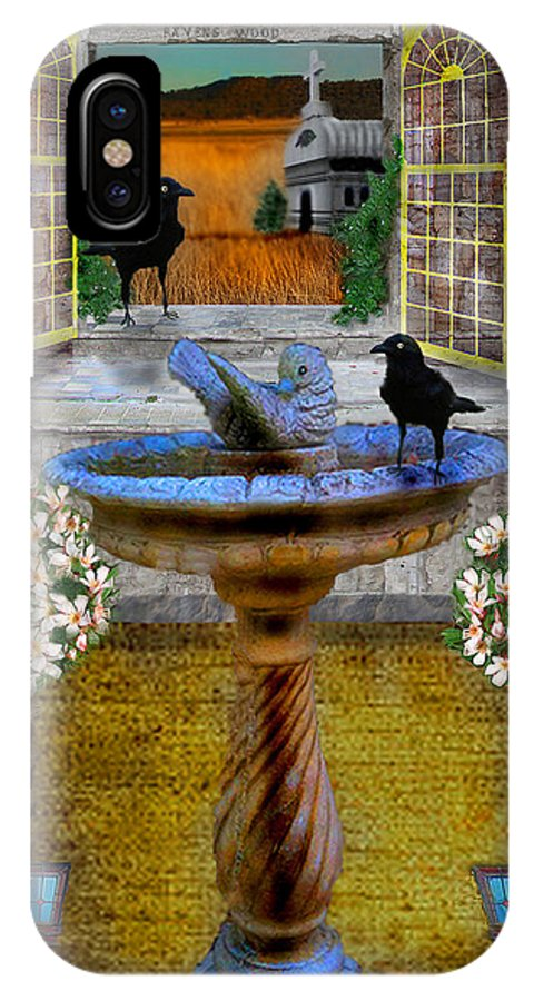 Digital IPhone X / XS Case featuring the photograph Ravens Wood Fantasy by Nina Fosdick