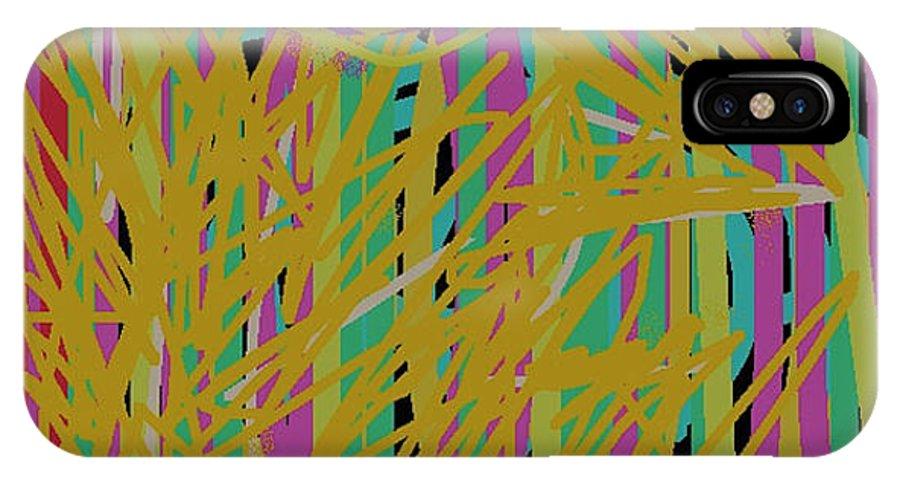 Web IPhone X / XS Case featuring the digital art Razzledazzle by Naomi Jacobs