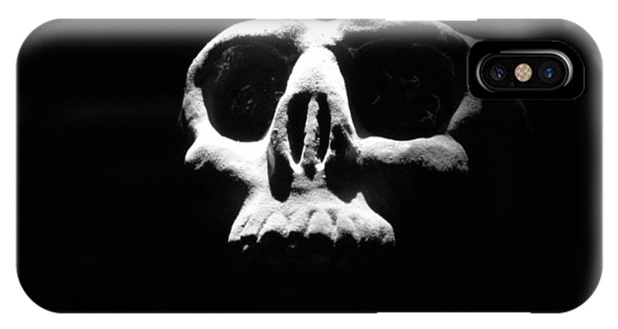 Skull IPhone X Case featuring the photograph Reality Check by One Rude Dawg Orcutt