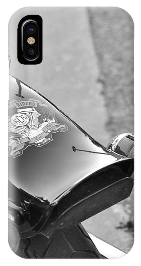 Motorcycle IPhone X / XS Case featuring the photograph Rear View by Traci Cottingham