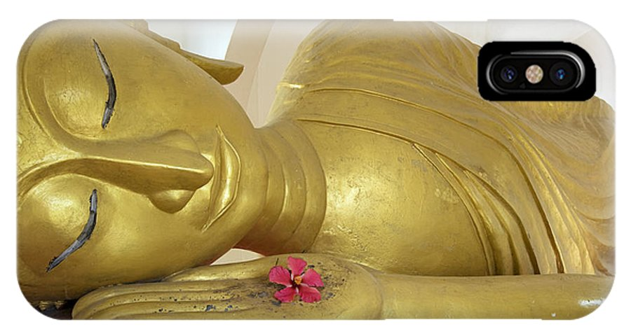 Asian IPhone X Case featuring the photograph Reclining Buddha by Gloria & Richard Maschmeyer