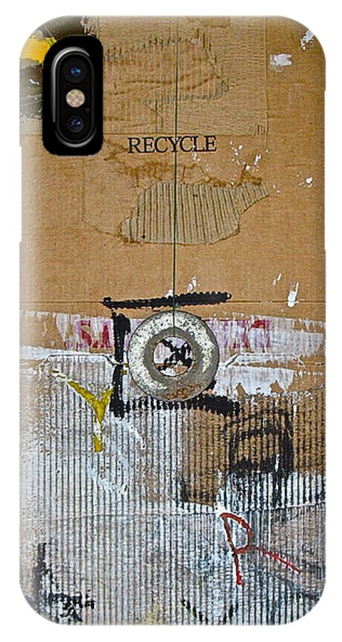 Abstract Paintings IPhone X Case featuring the painting Recycle by Cliff Spohn