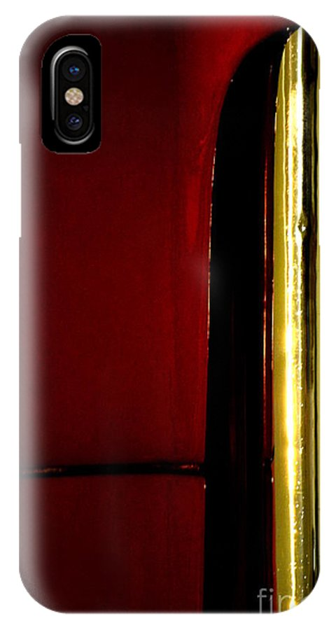 Metal IPhone X Case featuring the photograph Red And Gold by Newel Hunter