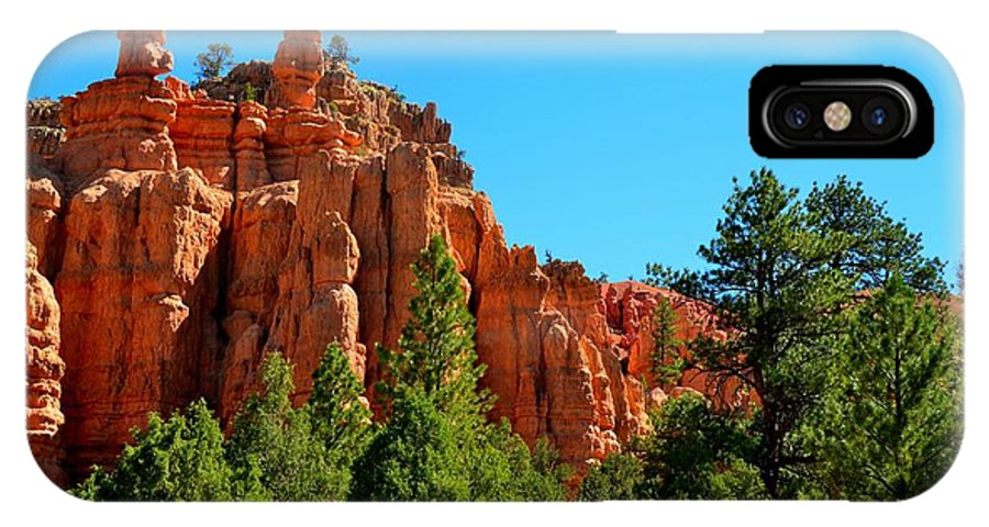 Red Canyon IPhone X Case featuring the photograph Red Canyon by Mark Bowmer