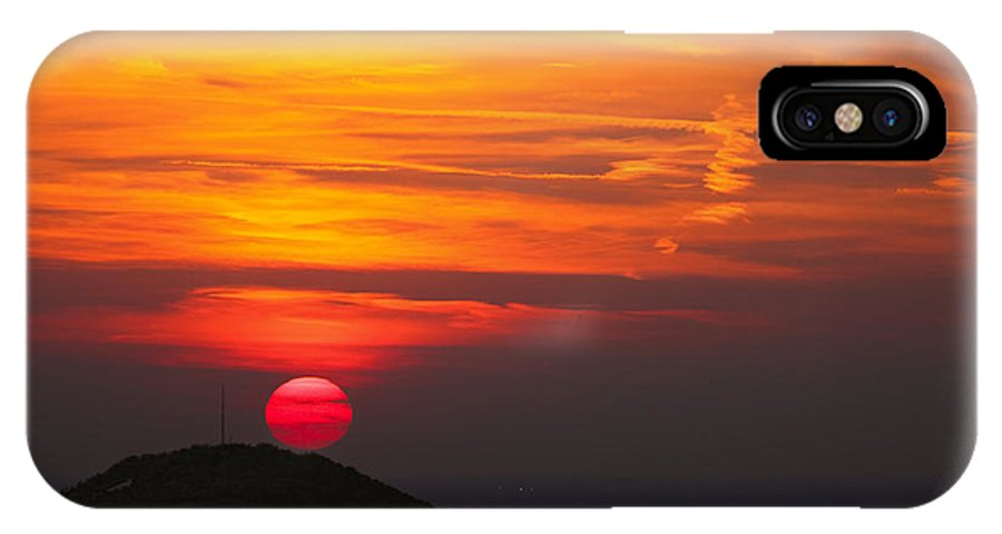 Red Circle IPhone X Case featuring the photograph Red Circle by Cristian Mihaila