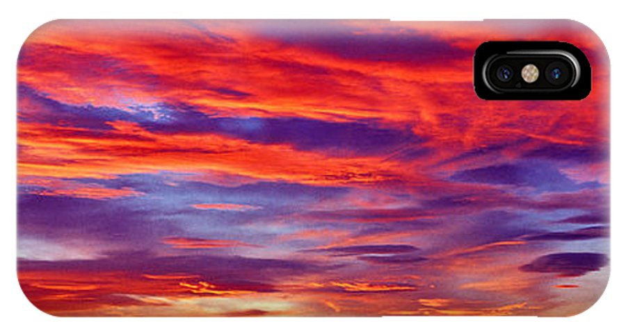 Red Clouds IPhone X / XS Case featuring the photograph Red Clouds Dawn With Mount Rainier by Tim Rayburn