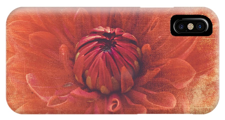 Flower IPhone X Case featuring the photograph Red Dahlia by Alana Ranney