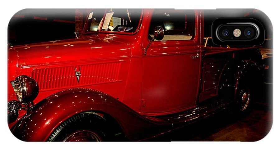 Red Ford IPhone X Case featuring the photograph Red Ford Truck by Susanne Van Hulst
