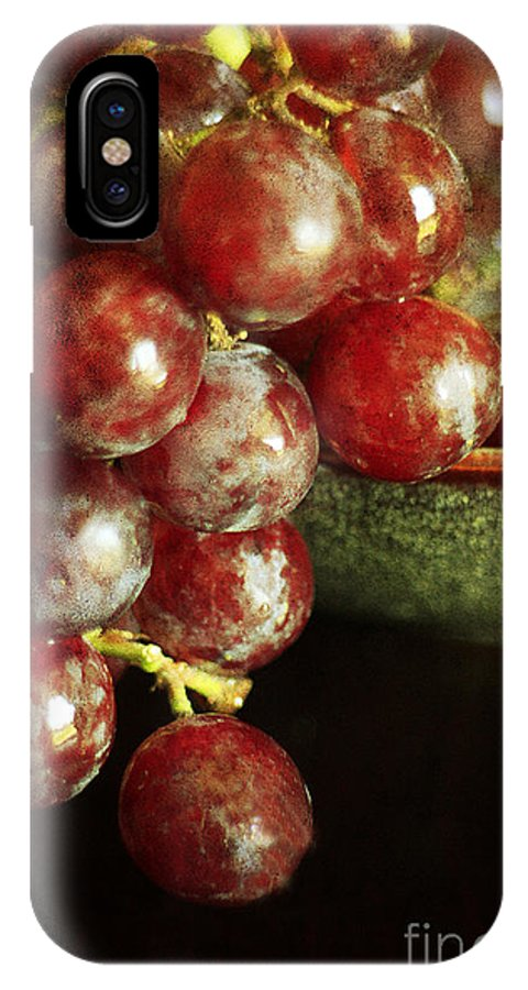 Agriculture IPhone X Case featuring the photograph Red Grapes by Darren Fisher