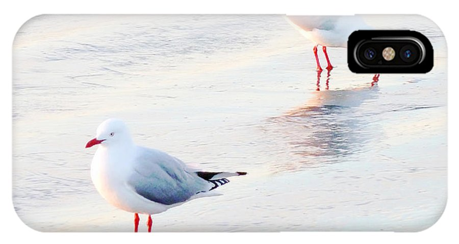 Sea IPhone X Case featuring the photograph Red Legs And Lipstick by Steve Taylor