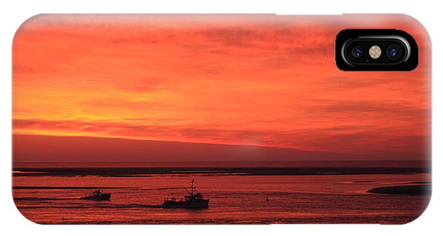 Sunrise IPhone X Case featuring the photograph 'red Skies At Morning Sailors Take Warning' by John Burk