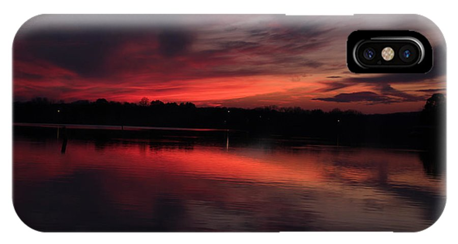Tn IPhone X Case featuring the photograph Red Sky Sunset by Ericamaxine Price