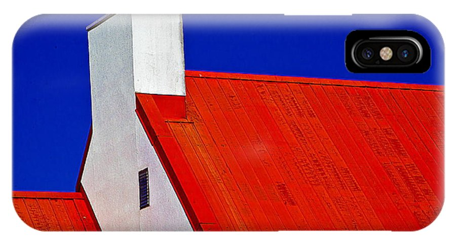 Red IPhone X / XS Case featuring the photograph Red White And Blue by Burney Lieberman