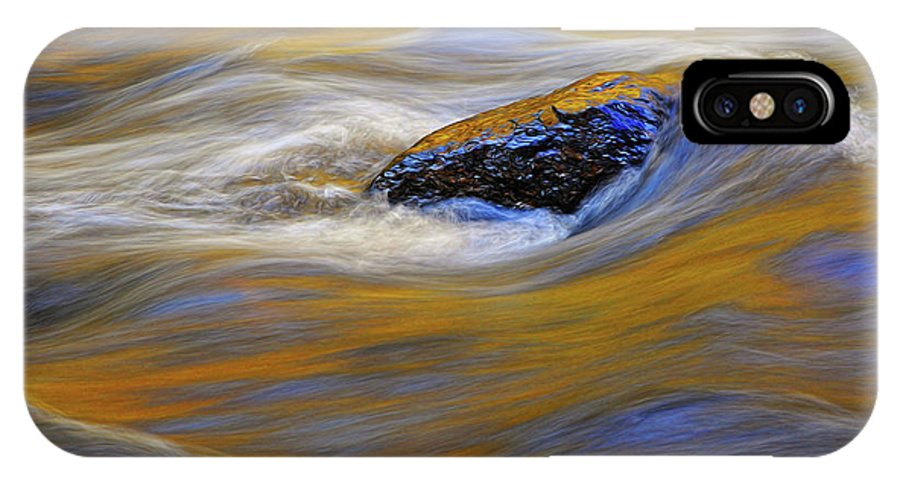 Water IPhone X Case featuring the photograph Reflected Color by Dave Mills