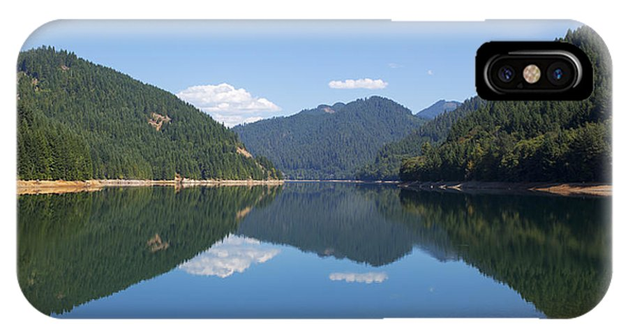 Art IPhone X Case featuring the photograph Reflection At The Reservoir by Belinda Greb