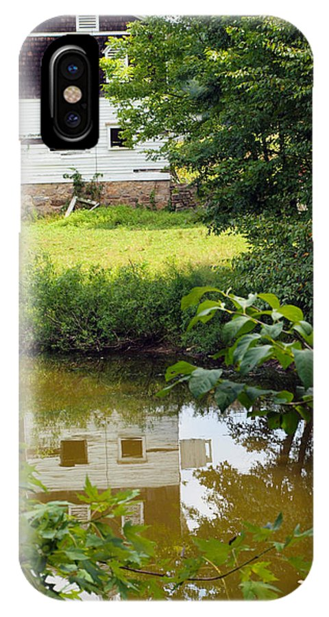 Farm Animals IPhone X Case featuring the photograph Reflection Of The Barn by Robert Margetts