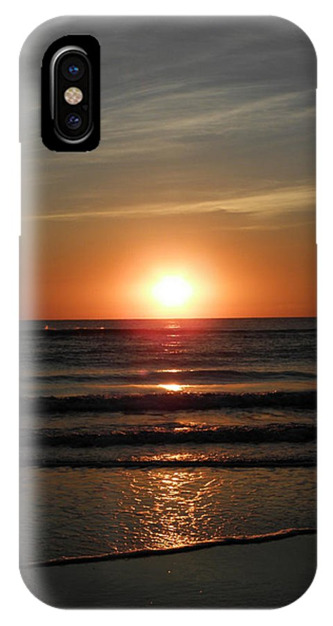 Sunrise IPhone X Case featuring the photograph Reflections Of The Rise by Kim Galluzzo Wozniak