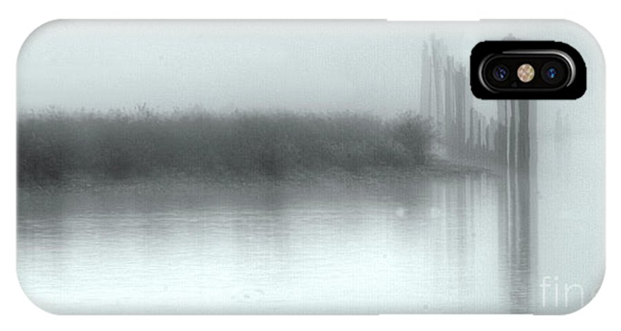 Fog IPhone X Case featuring the photograph Reflections Through The Fog by Rod Wiens