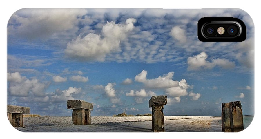 Pier IPhone X Case featuring the photograph Remains Of The Day by Shari Jardina