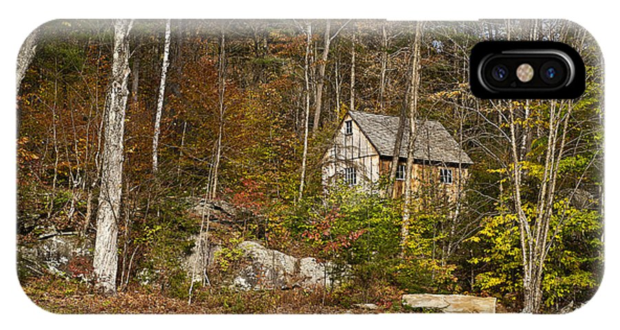New England IPhone X Case featuring the photograph Remote Vermont Cabin by John Greim