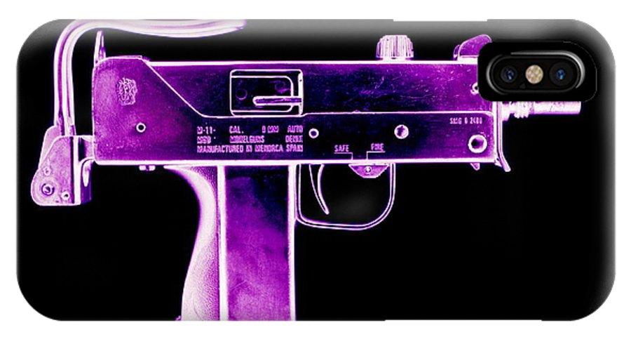 Equipment IPhone X Case featuring the photograph Replica Machine-gun by Kevin Curtis