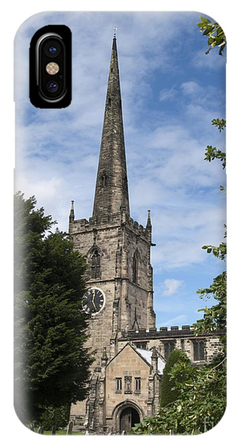 Church IPhone X Case featuring the photograph Repton Church by Steev Stamford