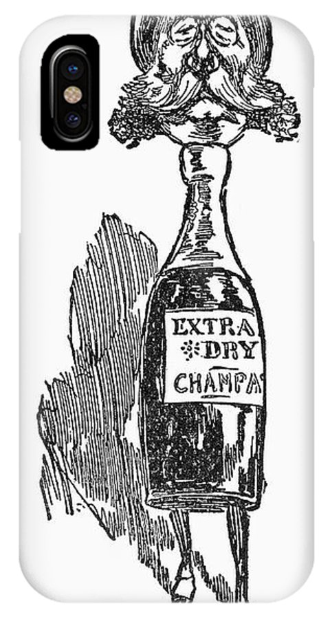 1896 IPhone X Case featuring the photograph Republican Voter, C1896 by Granger
