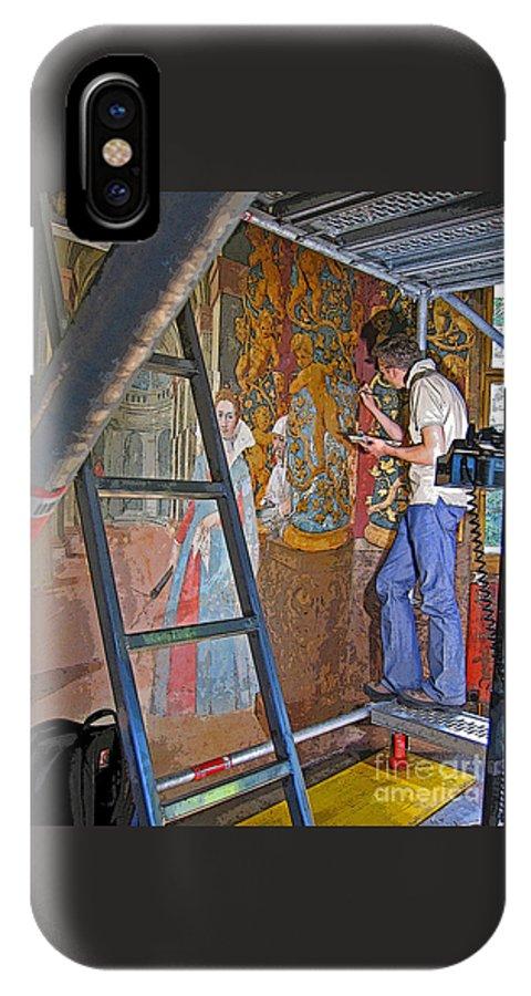 Artist IPhone X Case featuring the photograph Restoring Art by Ann Horn