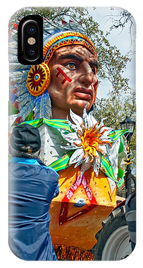 New Orleans IPhone X Case featuring the photograph Rex Mardi Gras Parade Vii by Steve Harrington