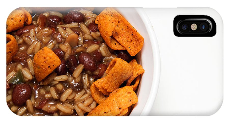 Rice IPhone X Case featuring the photograph Rice And Beans With Chile Cheese Fritos by Andee Design