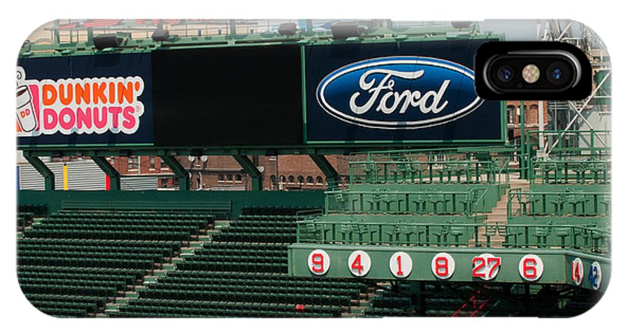 fenway Park IPhone X Case featuring the Rich In History by Paul Mangold