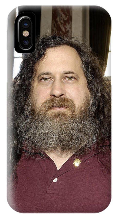 Richard Matthew Stallman IPhone X / XS Case featuring the photograph Richard Stallman, Software Developer by Volker Steger