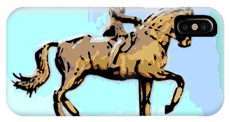 Horse IPhone X / XS Case featuring the photograph Riding Copper by George Pedro