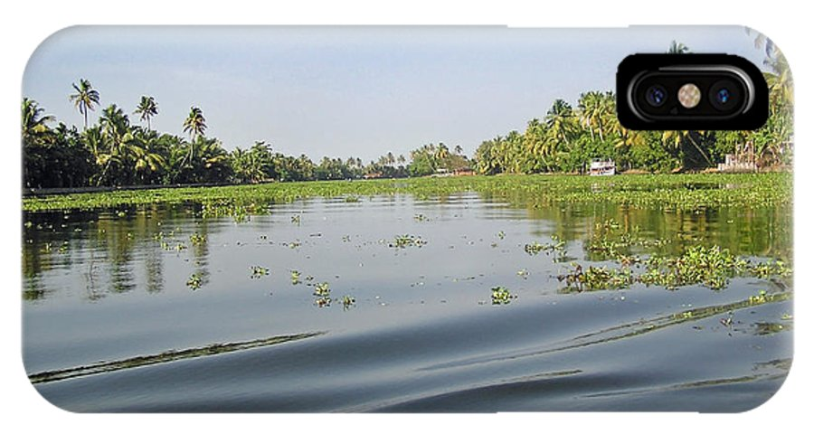 Ripple IPhone X Case featuring the photograph Ripples On The Water Of The Saltwater Lagoon In Alleppey In Kerala In India by Ashish Agarwal