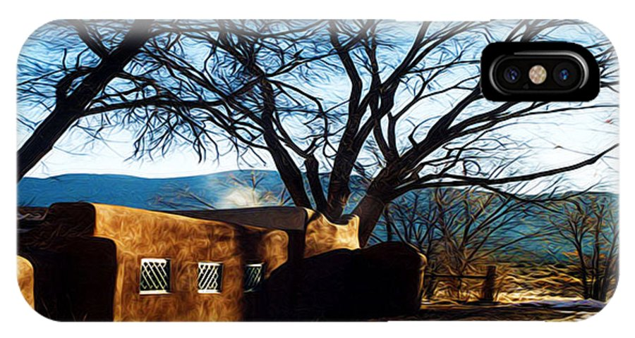 Tree IPhone X Case featuring the photograph Road To Mescalero by Terry Fiala