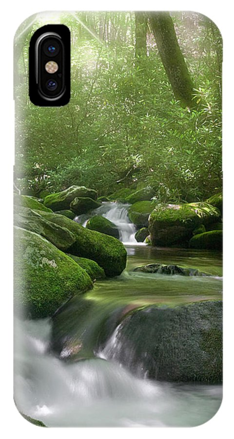 2009 IPhone X Case featuring the photograph Roaring Fork by Cindy Haggerty
