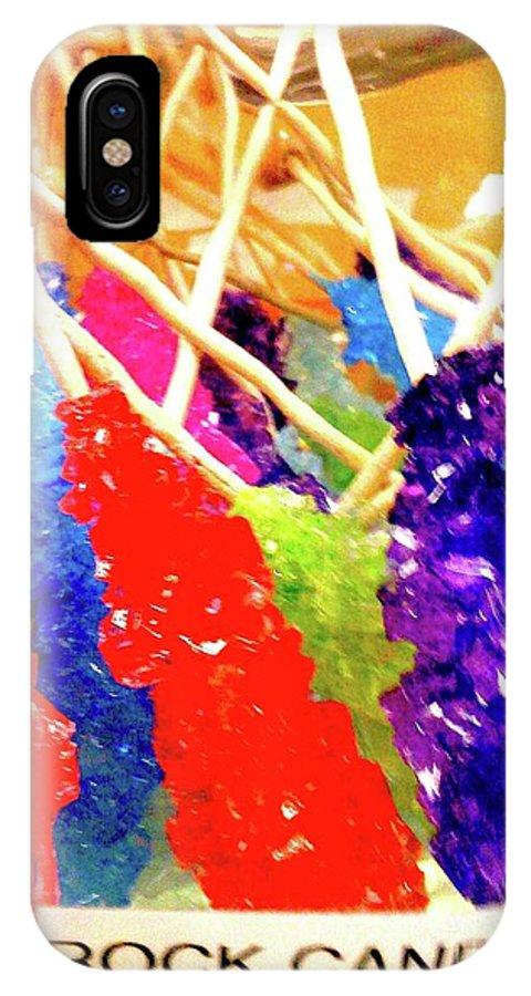 Digital Art IPhone X Case featuring the digital art Rock Candy Cu 1 by Nina Kaye